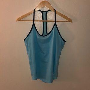 Light blue athletic underarmor tank